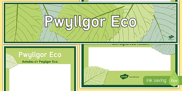 Baner a Phoster Arddangos Pwyllgor Eco
