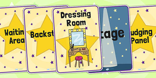 Talent Show Audition Role Play Signs - talent show, role play