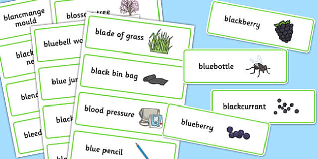 Three Syllable 'BL' Word Cards - bl sound, syllable, word cards