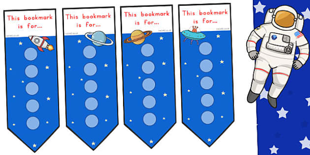 Space Small Sticker Reward Bookmarks - Stickers, Bookmark, Little
