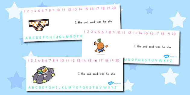 Alphabet and Number Strips to Support Teaching on Aliens Love Underpants - australia