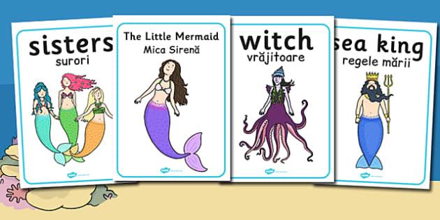 The Little Mermaid Display Posters Romanian Translation - mermaid