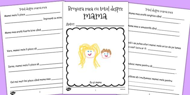 Totul despre mama - Broșură