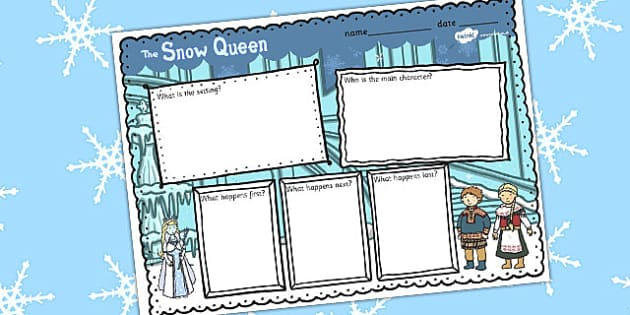 The Snow Queen Book Review Writing Frame - frames, reviews, write