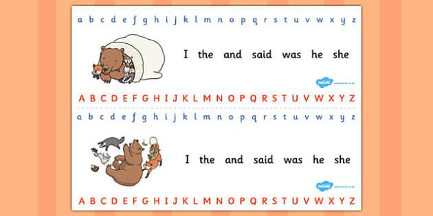 The Mitten Alphabet Strips - the mitten, alphabet strips, strips