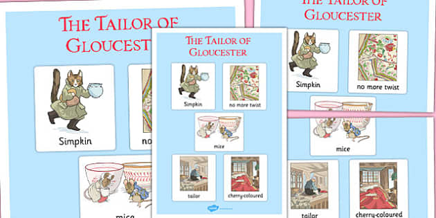 The Tailor of Gloucester Vocabulary Poster - tailor, gloucester