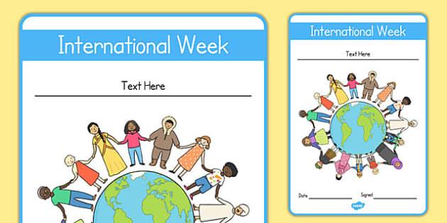 Editable International Week Certificate - editable, international, week, certificate