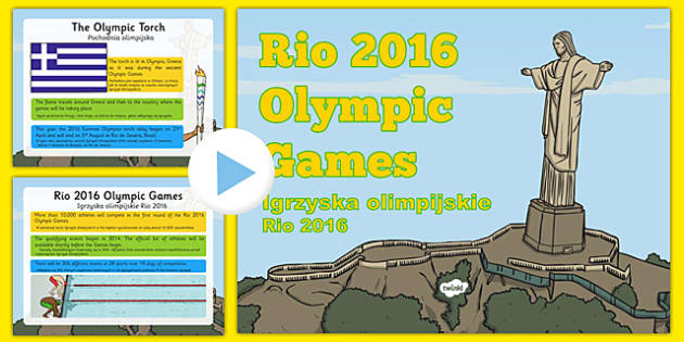 KS1 Rio Olympics 2016 Information PowerPoint Polish Translation - polish, Olympic Games 2016, KS1, olympics, Rio, Brazil, information powerpoint