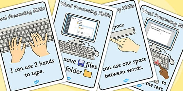 Word Processing Skills I Can Posters - Word, Skills, Posters