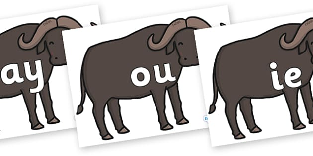 Phase 5 Phonemes on Buffalos - Phonemes, phoneme, Phase 5, Phase five, Foundation, Literacy, Letters and Sounds, DfES, display