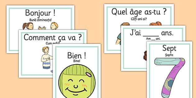 Planse de conversatie romana-franceza - vocabular baza