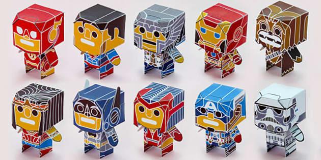 Enkl Pop Desk Buddy Characters Printable Pack - enkl, pop, desk buddy, characters, printable, pack