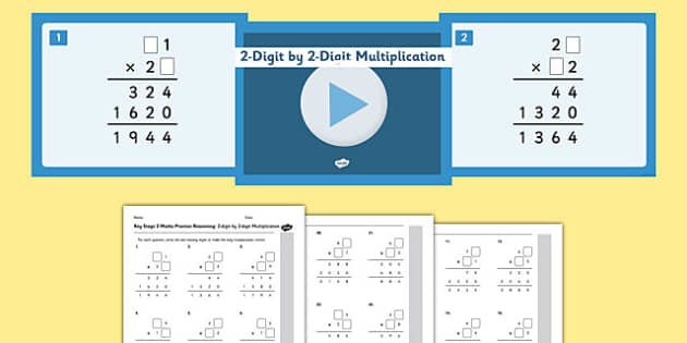 KS2 Reasoning Test Practice Missing Number Calculations 2-Digit by 2-Digit Multiplication Resource Pack - Key Stage 2, KS2, Reasoning, Test, Practise, Missing Number, Long multiplication