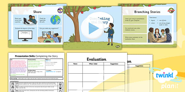 PowerPoint Presentation Skills: Completing a Story - Year 3 Computing Lesson Pack