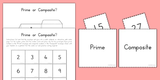 Prime or Composite Interactive Math Activity - usa, america, interactive, prime, composite