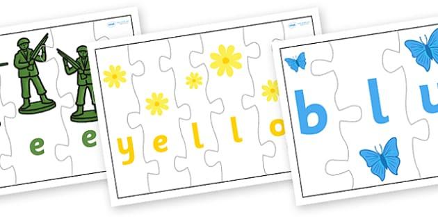 Colour Jigsaw Spelling - colour, jigsaw, spelling, game, literacy