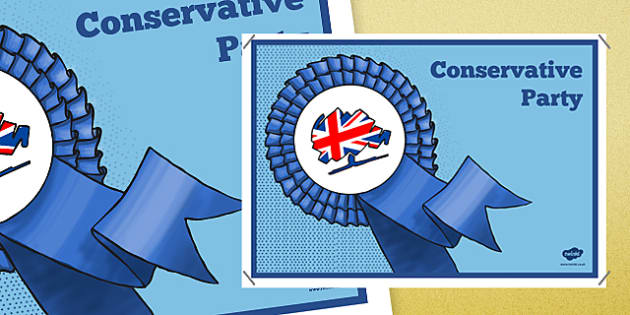United Kingdom Political Conservative Party Display Poster - united kingdom, political system, conservative party, display poster