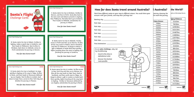 Santa's Journey  Activity Pack-Australia