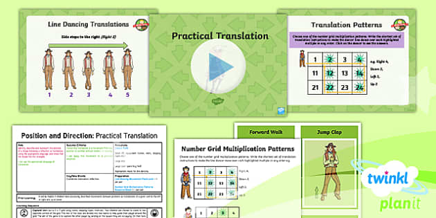 PlanIt Y5 Position and Direction Lesson Pack - Position and Direction, translation, geometry