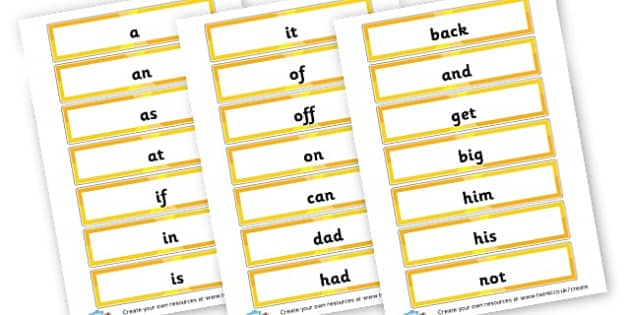 Phase 2 hfw flashcards - Phase 2 Visual Aids Primary Resources, Phase One, Letters, sounds