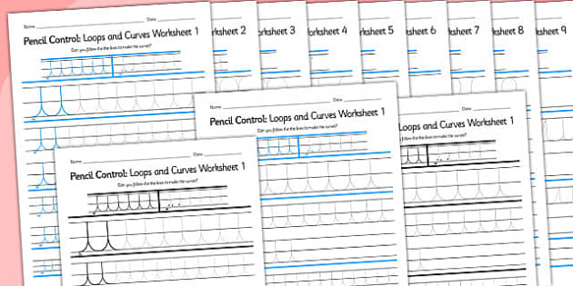 Pencil Control Loops And Curves Workbook - fine motor skills, literacy, writing, handwriting practise