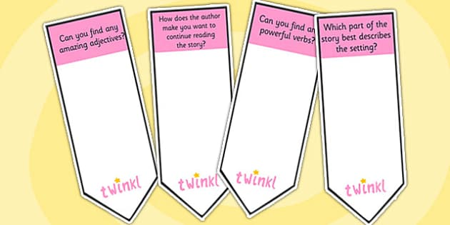 AF5 Guided Reading Question Bookmarks - assessment focus 5, af5 bookmarks, assessment focus reading, assessment focus 5 bookmarks, question bookmarks, af5
