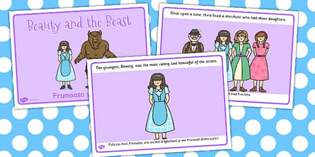 Beauty and the Beast Story Romanian Translation - romanian, story