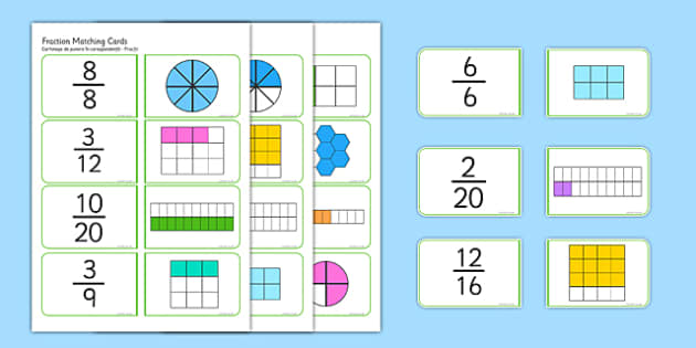 Fractions Matching Cards Romanian Translation - romanian, fractions, matching cards, matching, matching fractions, fraction cards, numeracy cards, numeracy, numeracy game, fraction game