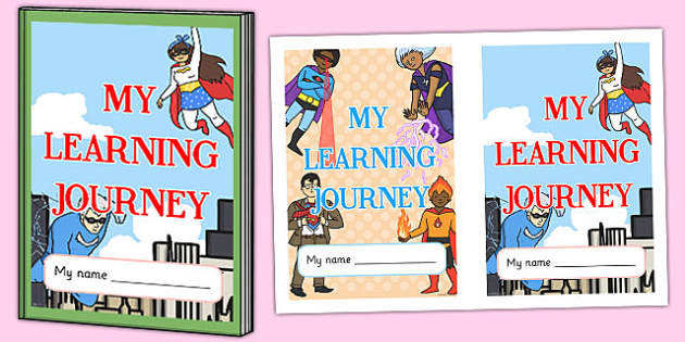 Superhero Themed Learning Journey Book Cover - superhero, book cover
