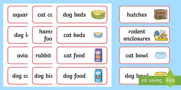Pet Shop Labels - Pets, shop, price, price labels, for sale, cat, dog, rabbit, mouse, guinea pig, rat, hamster, gerbil, horse, puppy, kitten, snake, chinchilla, snail, lizard, budgie