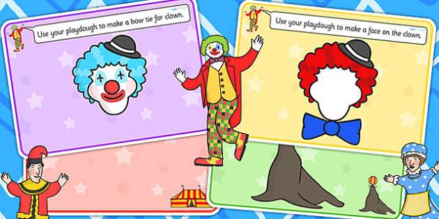 Circus Playdough Mats - fine motor skills, activity mat, play doh