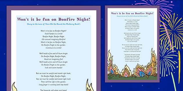 Wont It Be Fun On Bonfire Night Circle Dance - bonfire night, circle, dance, fun