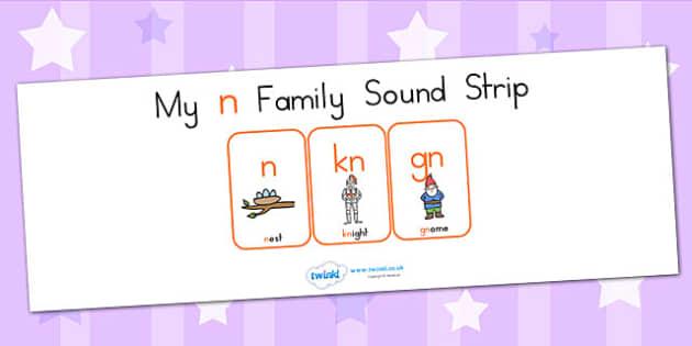 My N Family Sound Strip - sound family, visual aid, literacy