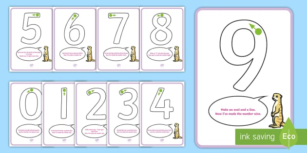 Number Formation Rhyme Display Posters - number formation, poster