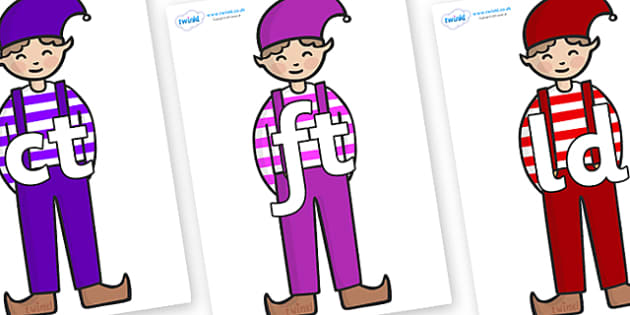 Final Letter Blends on Elf (Boy) - Final Letters, final letter, letter blend, letter blends, consonant, consonants, digraph, trigraph, literacy, alphabet, letters, foundation stage literacy