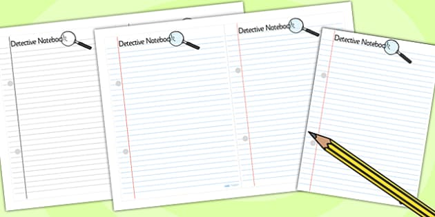 Detective Role Play Notepad - detectives, roleplay, props, notes