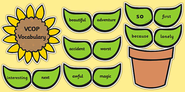 VCOP Vocab Flower Display - vcop, vocabulary, flower, display, vocab