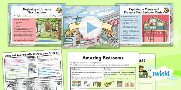 PlanIt - Computing Year 5 - Using and Applying Skills Lesson Pack - bedroom, design, model, plan, project, research
