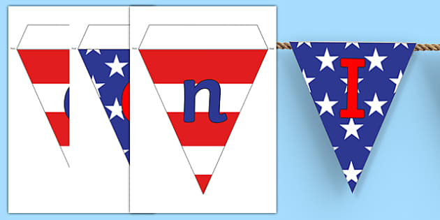 Independence Day Bunting - independence day, bunting, display