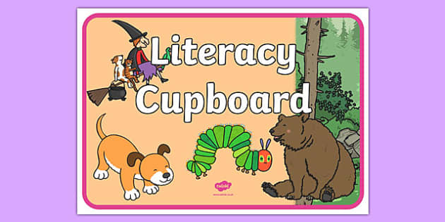 Literacy Cupboard A4 Display Poster - literacy cupboard, display poster, display, poster