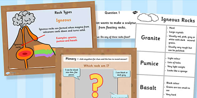 Year Comparing and Grouping Rocks PowerPoint and Activity Pack