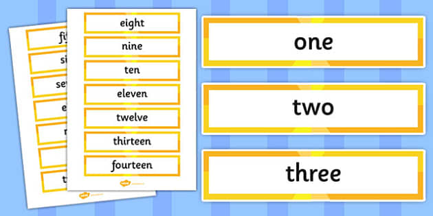 Numbers Zero to One Hundred Word Cards -maths, counting, tens, ones, display, visual aid