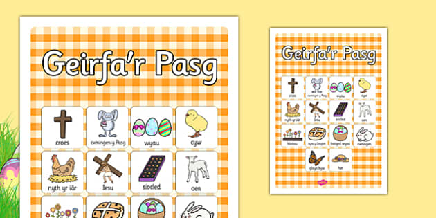 Poster geirfa Pasg - welsh, cymraeg, Pasg, geirfa Pasg, Iesu Grist, Iesu, thema