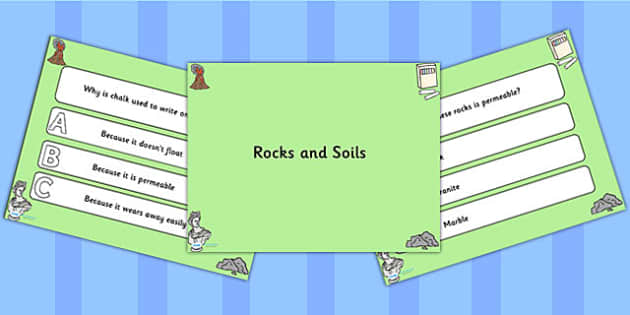 Rocks and Soils PowerPoint Quiz - rocks, soils, powerpoint, quiz