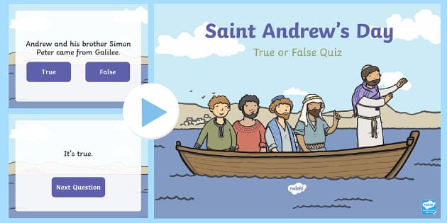 Saint Andrew's Day True or False PowerPoint-Scottish