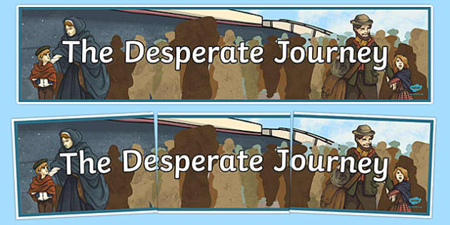 The Desperate Journey Display Banner - The Highland Clearances, cfe, curriculum for excellence, the desperate journey