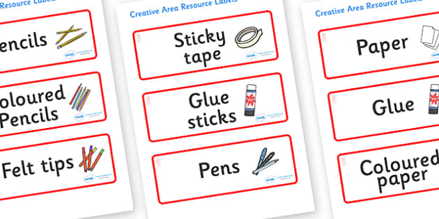 Jellyfish Themed Editable Creative Area Resource Labels - Themed creative resource labels, Label template, Resource Label, Name Labels, Editable Labels, Drawer Labels, KS1 Labels, Foundation Labels, Foundation Stage Labels