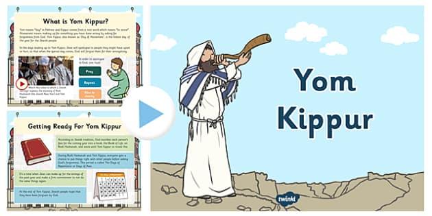 Yom Kippur PowerPoint - yom kippur, powerpoint, judaism, holy