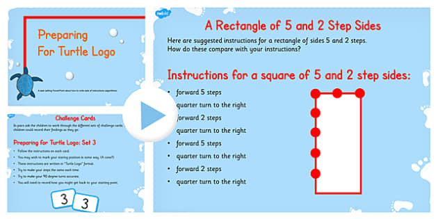 Prepare Turtle Logo Follow Instruction Algorithm Teach PowerPoint