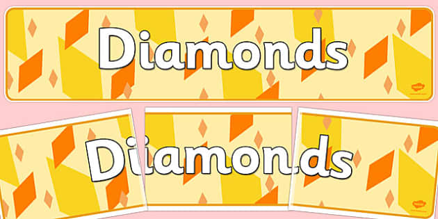 Diamonds Display Banner - diamonds, display banner, display